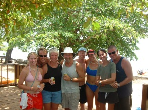 The dive team - on the far right, our instructors Waz and Ellie