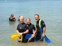 Family diving