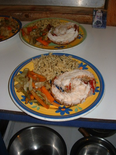 One of our lobster dinners that became a drawing card!